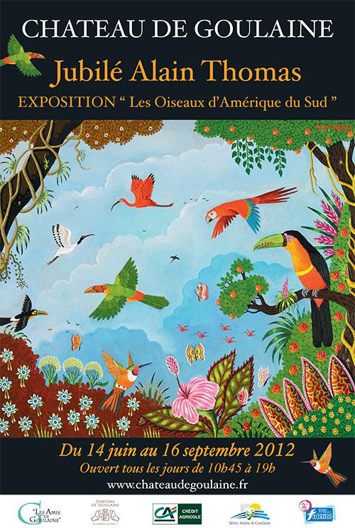 Affiche exposition oiseaux d'Amerique du sud