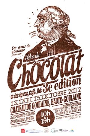 Affiche du salon du chocolat pour la saison 2012