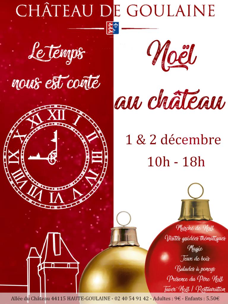 affiche présentant Noël au château
